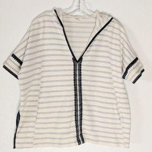Madewell Shortsleeve Sweater w/Hood & Embroidery